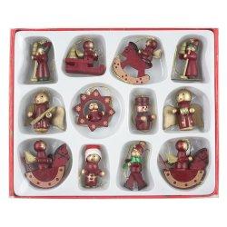 juego de adornos para arbol de navidad de madera