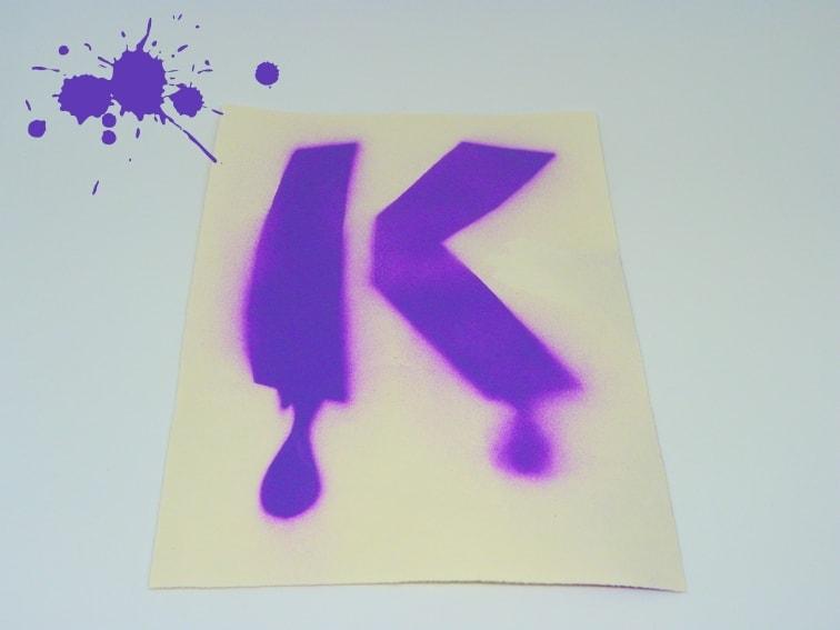 letra k plantilla stencil