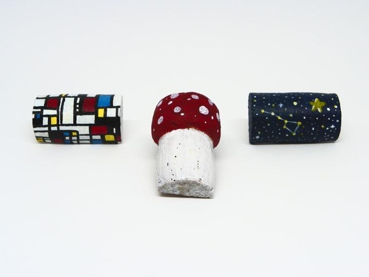 Imanes decorativos hechos con tapones de corcho