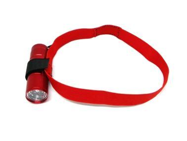 cinta para la cabeza para adaptar una linterna de mano