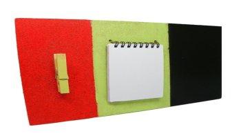 tablon de notas multifuncional hecho con madera