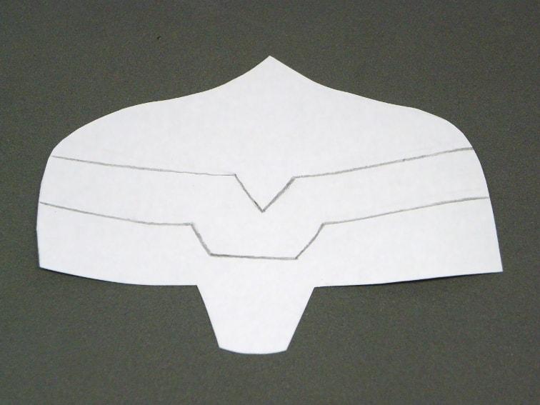 plantilla de papel del casco de thor