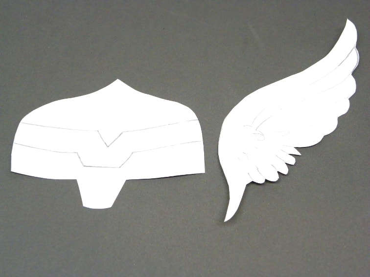 plantillas de papel para hacer el casco de thor