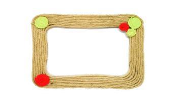 portafotos hecho con cuerda de fibras naturales de yute
