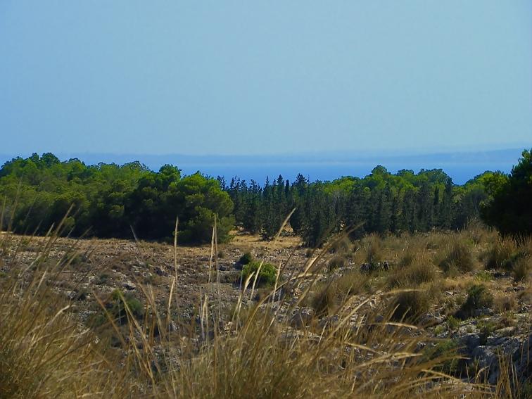 vista del mar y de la meseta de la sierra de santa pola