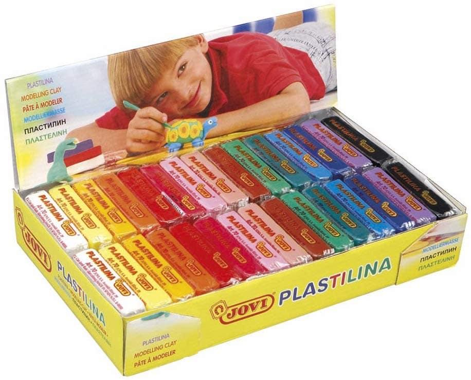 Jovi Plastilina vegetal paquete de 30 unidades 50 gr multicolor