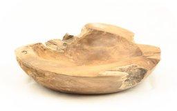 bol de madera de raíz de teca natural de 50cm