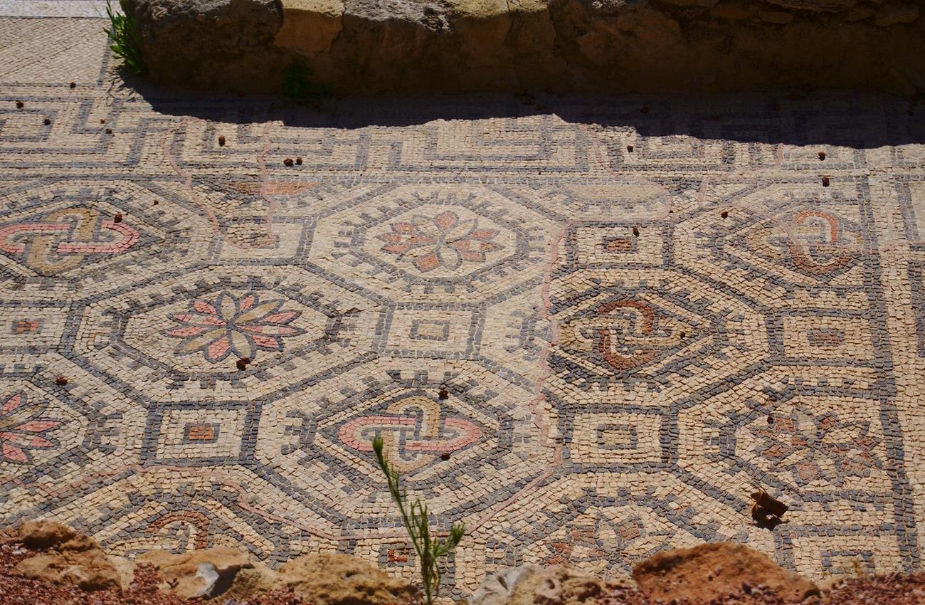 yacimiento de casa romana en el palmeral santa pola