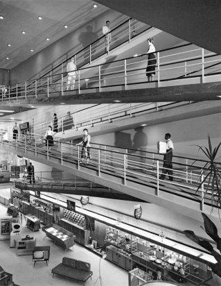 Eletroradiobras Store (architectural project Majer Botkowski), São Paulo. Foto:Hans Gunter Flieg 1956/IMS