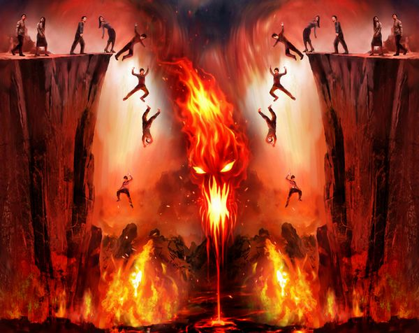 Image result for image of people in hell