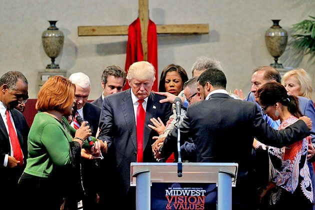 Image result for photos of trump with evangelicals