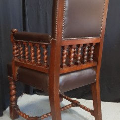 Throne Chair Cover Wooden Chairs With Arms India Barley Twist Oak Antique Church Furnishings
