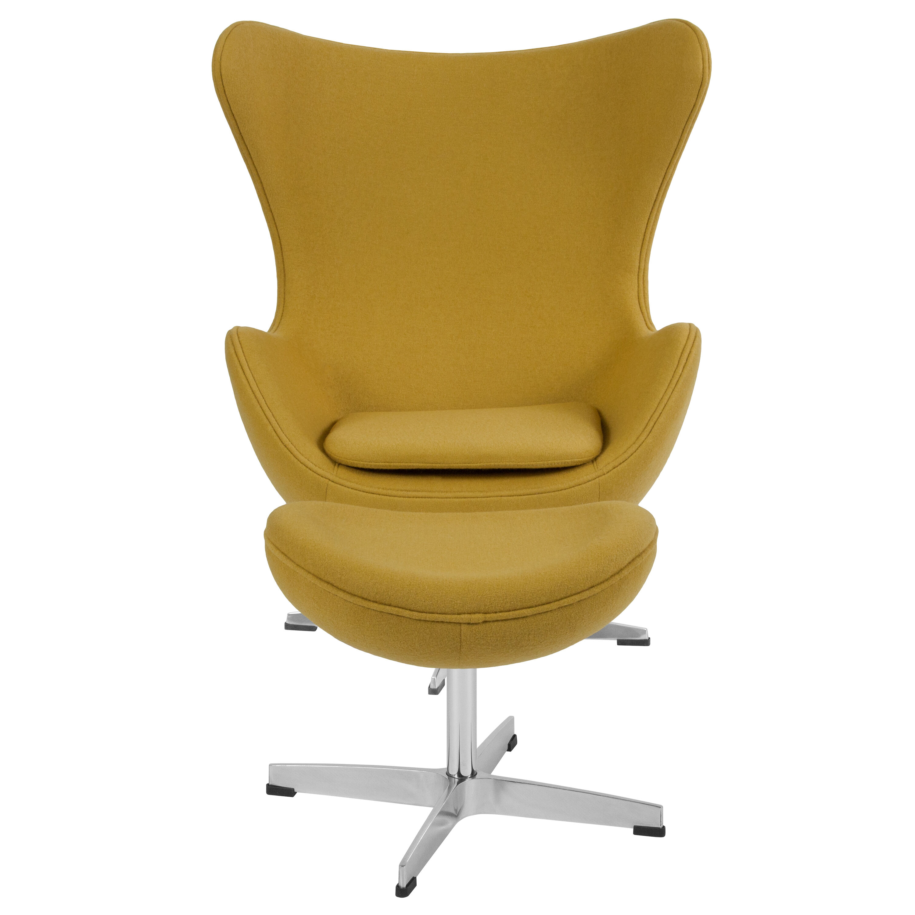 Egg Chair For Sale Citron Wool Fabric Egg Chair With Tilt Lock Mechanism And Ottoman