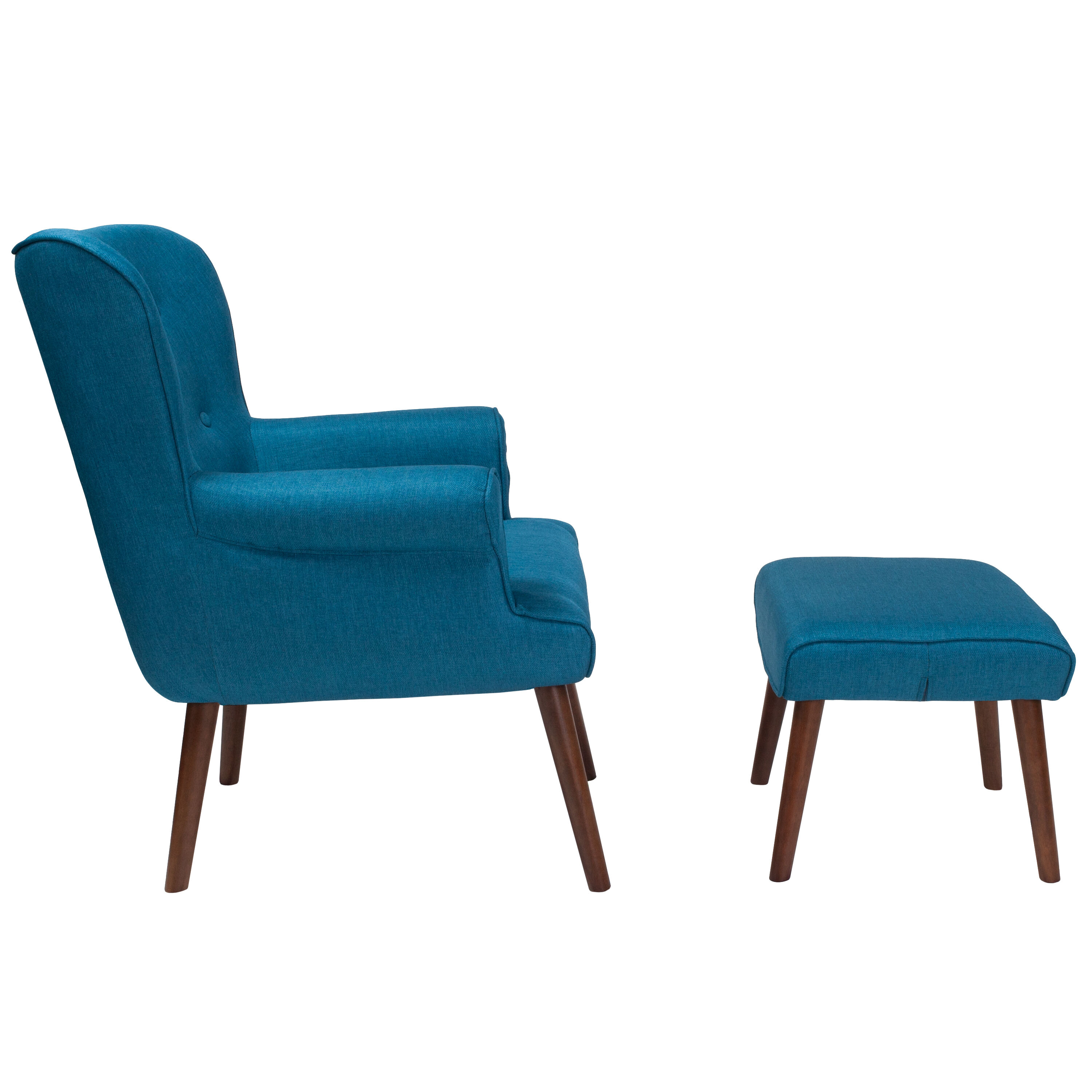 Teal Wingback Chair Blue Fabric Wing Chair Ott Qy B39 Co Blu Gg Churchchairs4less