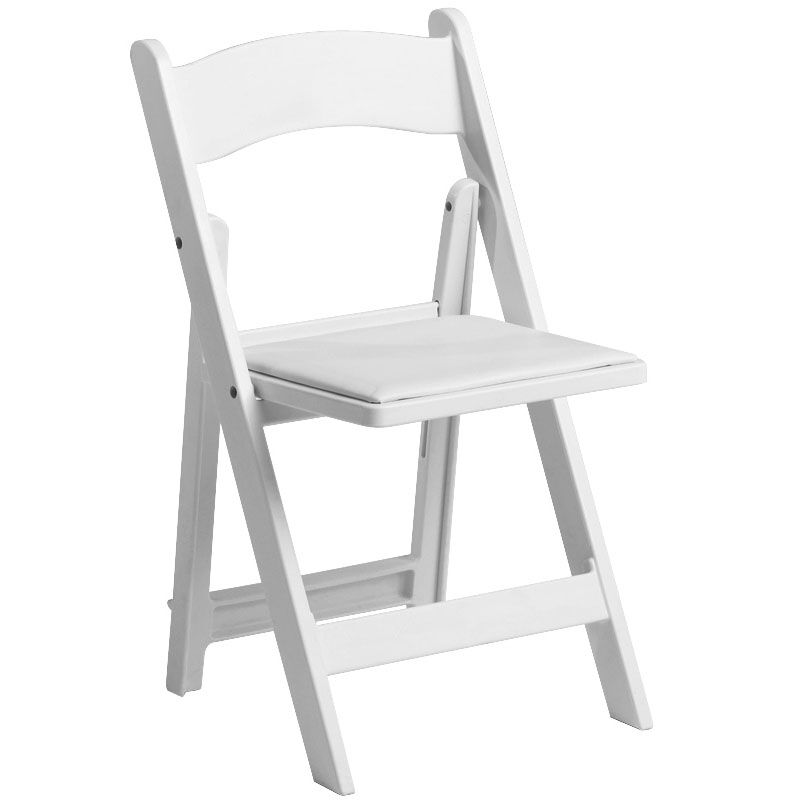 Resin Chairs 1000 Lb Max White Resin Folding Chair
