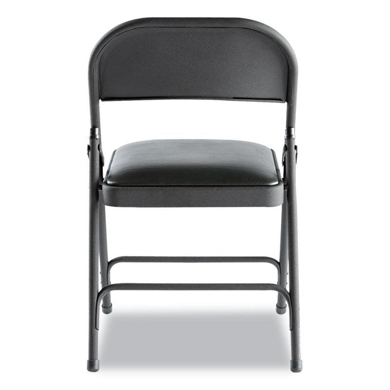 Steel Folding Chair Alera Alera Steel Folding Chair W Padded Seat Graphite