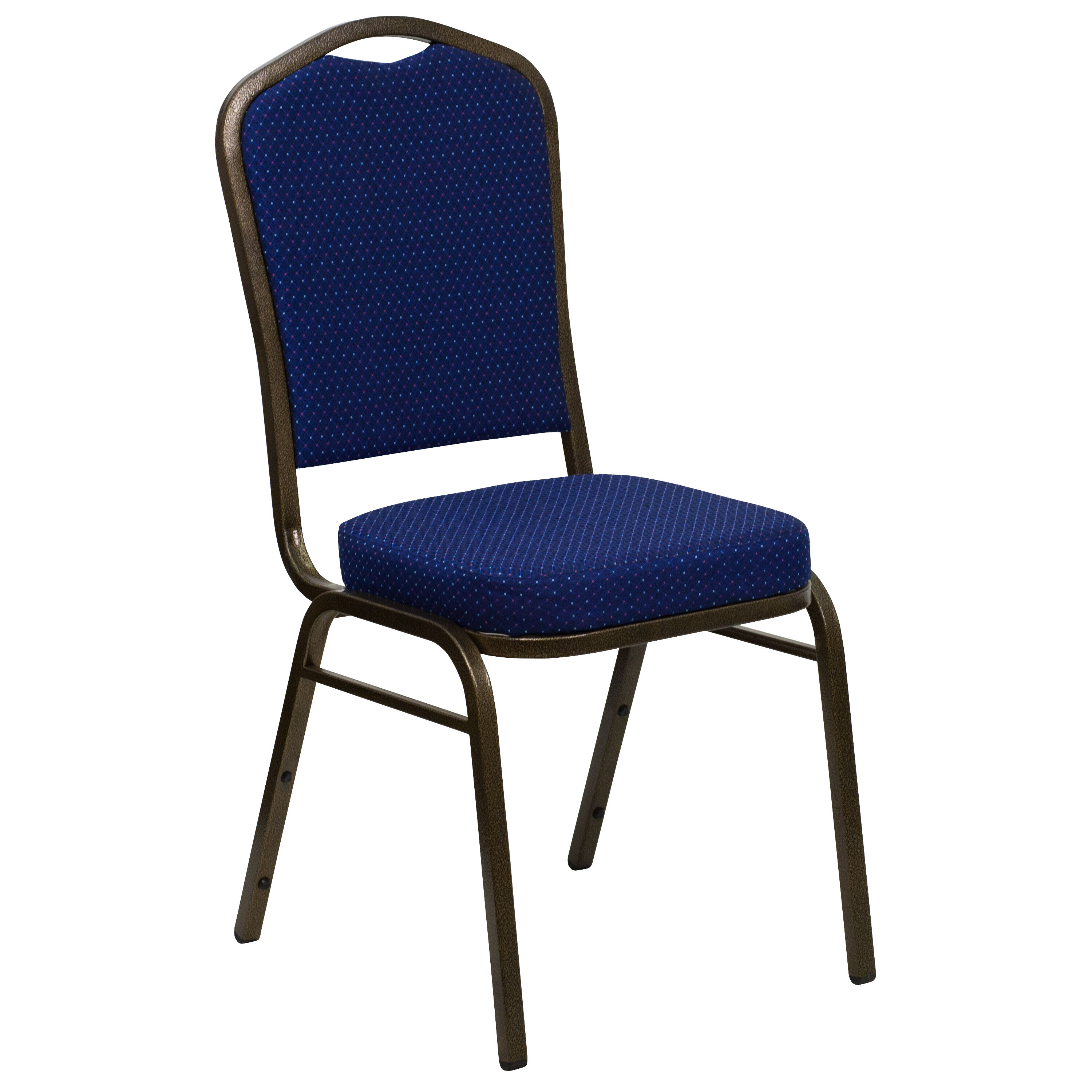 Blue Patterned Chair Hercules Series Crown Back Stacking Banquet Chair In Navy Blue Patterned Fabric Gold Vein Frame