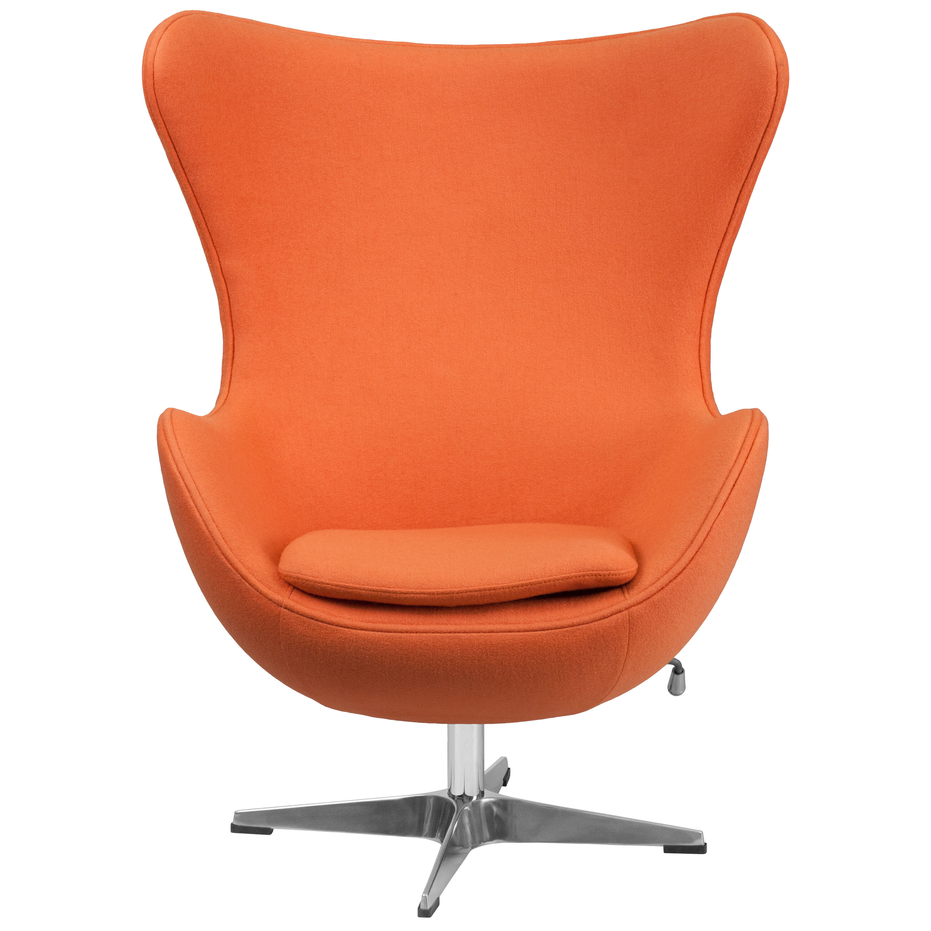 Egg Chair For Sale Orange Wool Fabric Egg Chair Zb 17 Gg Churchchairs4less