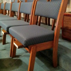 Wooden Church Choir Chairs At Homegoods Furnishings Unlimited Inc Metal Framed Upholstered