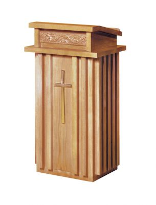 Woerner 2020 OakFinish Wood Lectern  Church Furniture