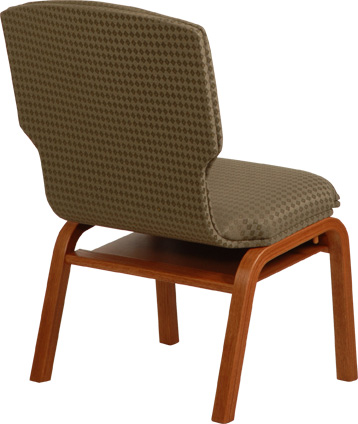 Wood Church Chair w Fabric Back  Meridian from Uniflex