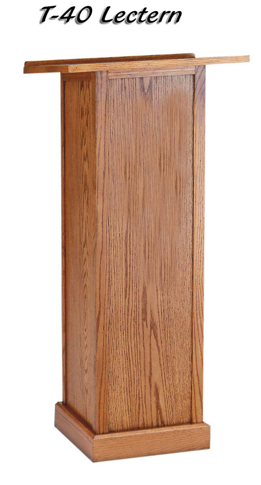 Full Pedestal Lectern from Imperial Woodworks T40