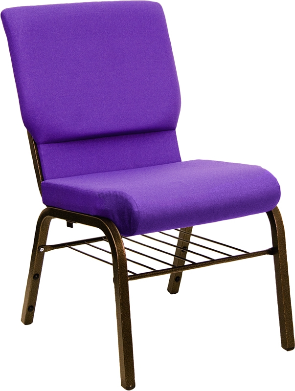 New Purple Hercules Chair with Book Rack  Church