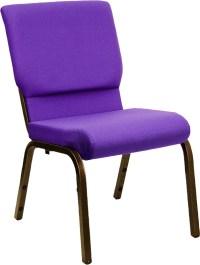 "Hercules Church Chair in Purple w/ 18.5""W Seat   Church ..."