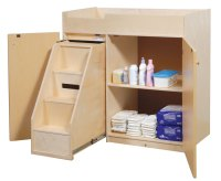 Church Nursery Wood Changing Table w/ Steps (SWP1039S ...