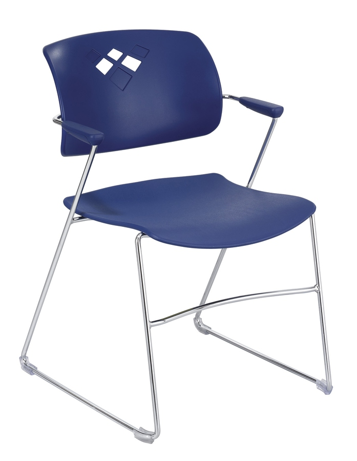 church chair accessories ergonomic mesh the 4286bu veer series stacking from safco products stackable for churches safeco