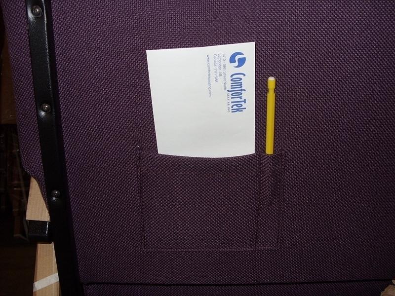 Church Chair Fabric Card Pockets WITH PEN SLOTS  Church