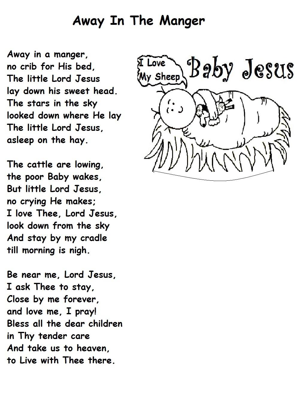 Baby Jesus Baby Jesus I Love You Lyrics : jesus, lyrics, Manger