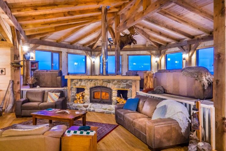 New lounge at Seal River Heritage Lodge.