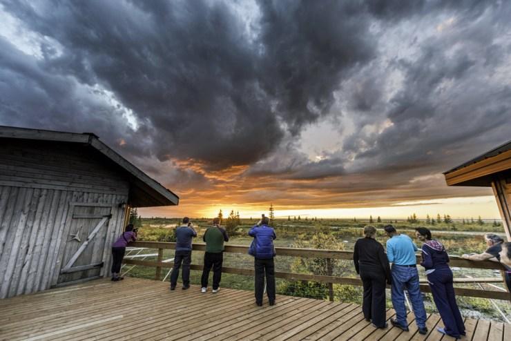 Outside viewing platform at Nanuk Polar Bear Lodge. Jad Davenport photo