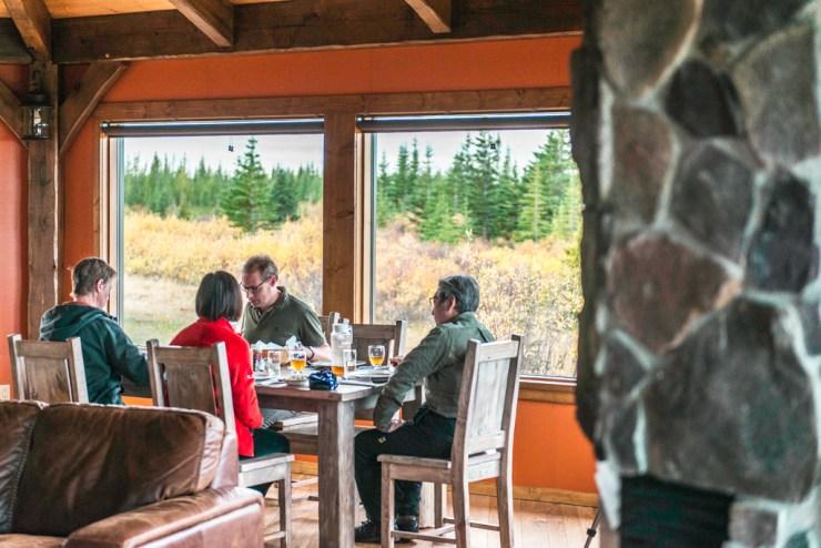 Dining at Nanuk. Jad Davenport photo.