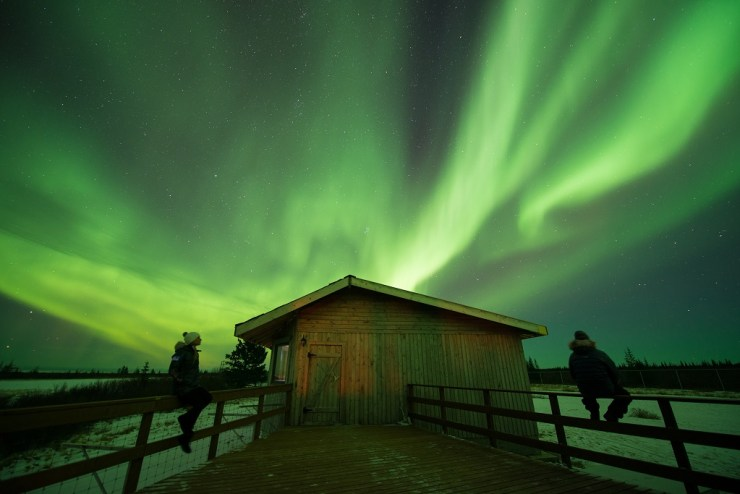 Northern lights at Nanuk.