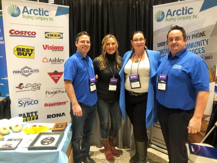 Arctic Buying Company Inc. L to R, Clifford Caners, Lise Painchaud, Tara Tootoo Fotherngham and Bryan Tootoo Fotheringham.