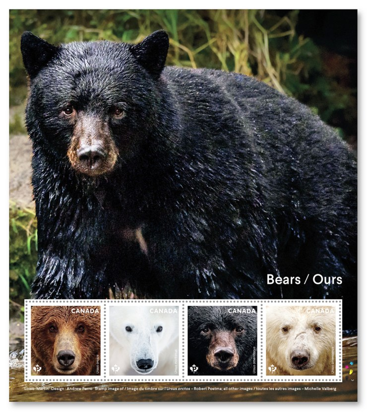 Canadian Bear Stamps. Courtesy of Canada Post. Click image for more information.