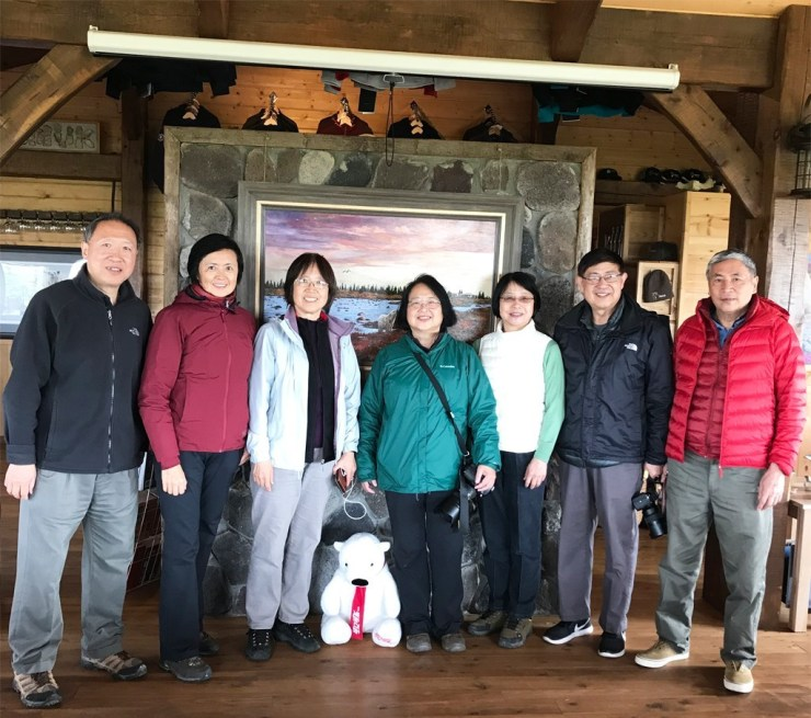 An Xiao and friends at Nanuk Polar Bear Lodge.
