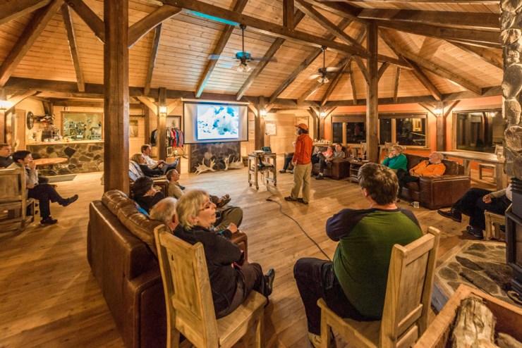 Lounge at Nanuk Polar Bear Lodge.