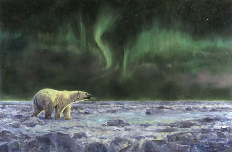 Arctic Wonder. Original oil painting by Linda Besse. Now owned by Doug and Helen Webber.