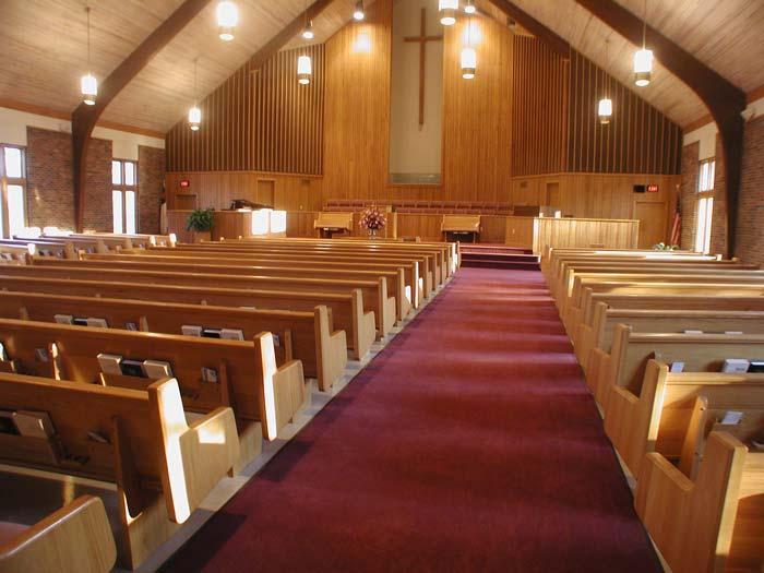 Church Pews, Solid Oak & Maple Pews, Pew Body Styles