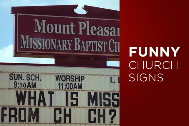 21 funny church signs