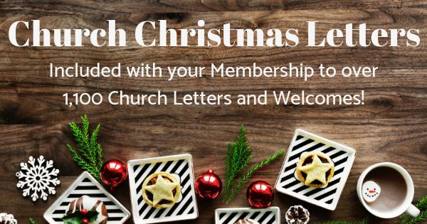 Church Christmas Letters for Pastors