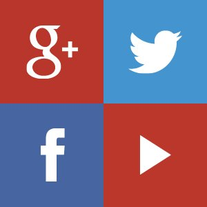 google+ twitter youtube facebook