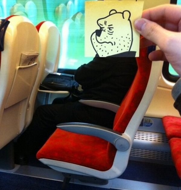 Funny Doodles of a Bored Commuter [Photos]