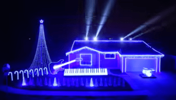 epic star wars christmas light show video