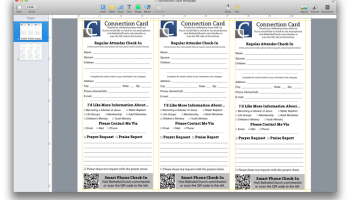 Church Publications 2 Free Connection Card Template