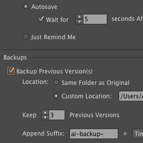 AutoSaviour Pro Settings