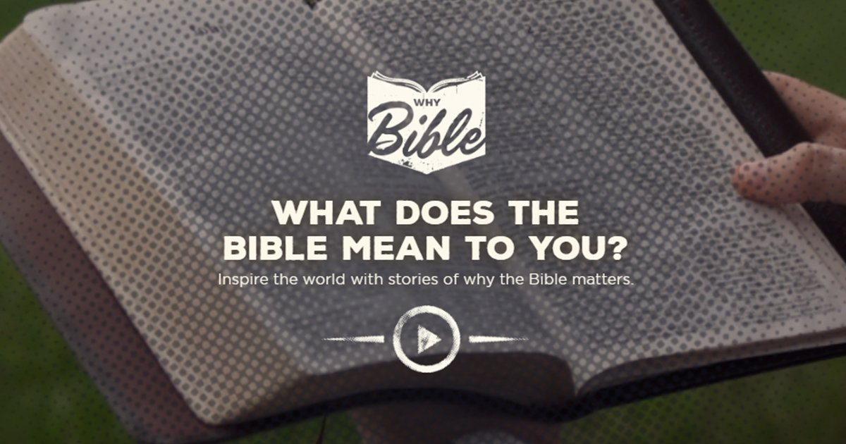 #WhyBible: Wycliffe Bible Translators USA Starts a Conversation